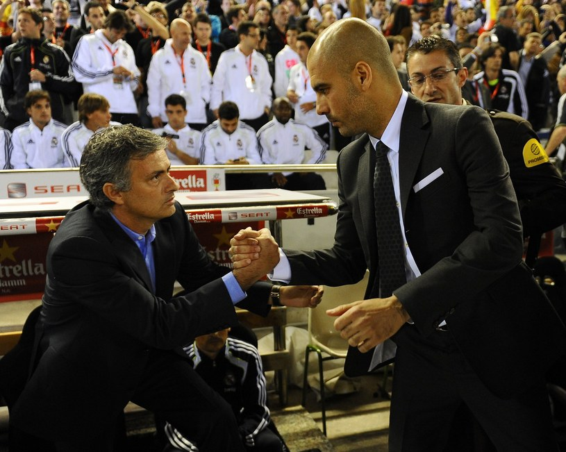 Jose Mourinho i Pep Guardiola - dwaj wielcy rywale /AFP