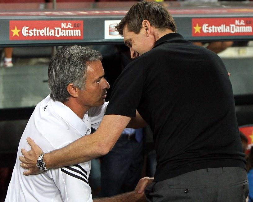 Jose Mourinho i Tito Vilanova /AFP