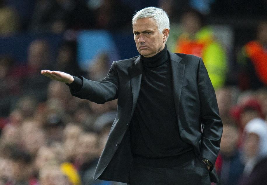 Jose Mourinho jeszcze w roli szkoleniowca Manchesteru United /PETER POWELL   /PAP/EPA