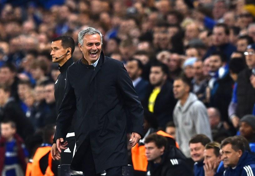 Jose Mourinho nie zawsze jest w złym humorze. /AFP