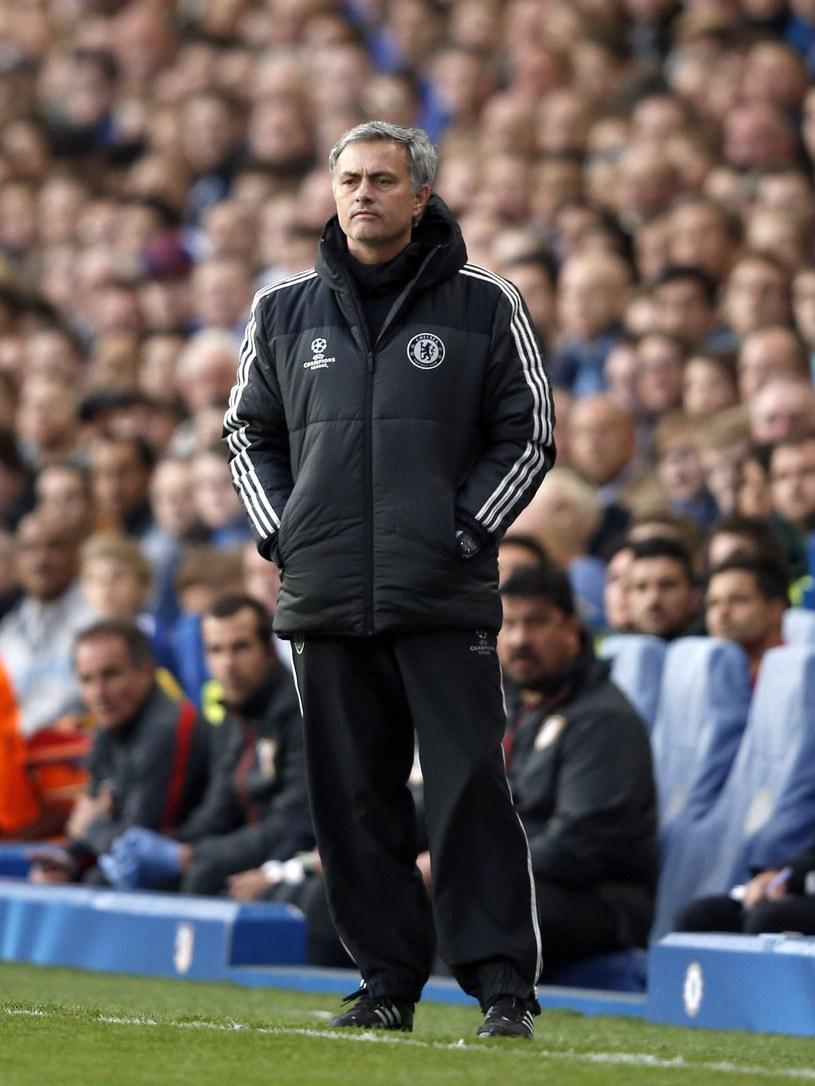 Jose Mourinho podczas meczu z Atletico /AFP