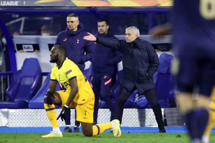 Jose Mourinho podczas meczu z Dinamem w Zagrzebiu /AFP