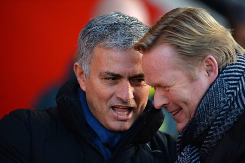 Jose Mourinho (z lewej) i menedżer Southampton Ronald Koeman /AFP