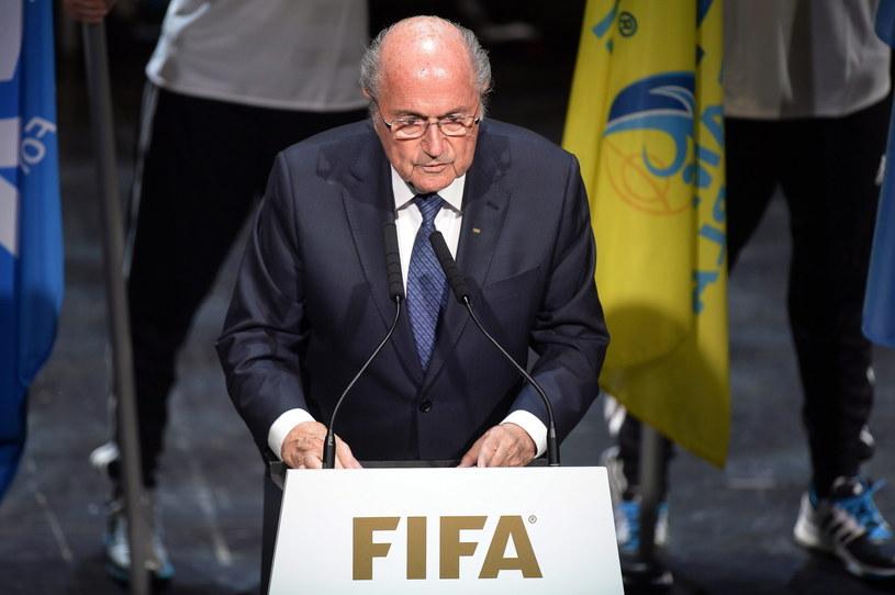 Joseph Blatter przemawia na ceremonii otwarcia kongresu FIFA /PAP/EPA