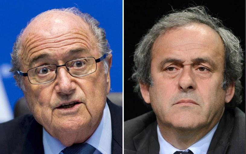 Joseph Blatter (z lewej) i Michel Platini /AFP