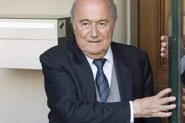 Joseph Blatter /LAURENT GILLIERON /PAP/EPA
