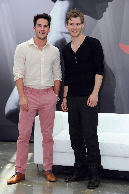 Joseph Morgan, czyli serialowy Klaus i Michael Trevino, czyli Tyler /Pascal Le Segretain /Getty Images