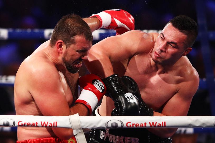 Joseph Parker (z prawej) w walce z Razvanem Cojanu /Hannah Peters /Getty Images