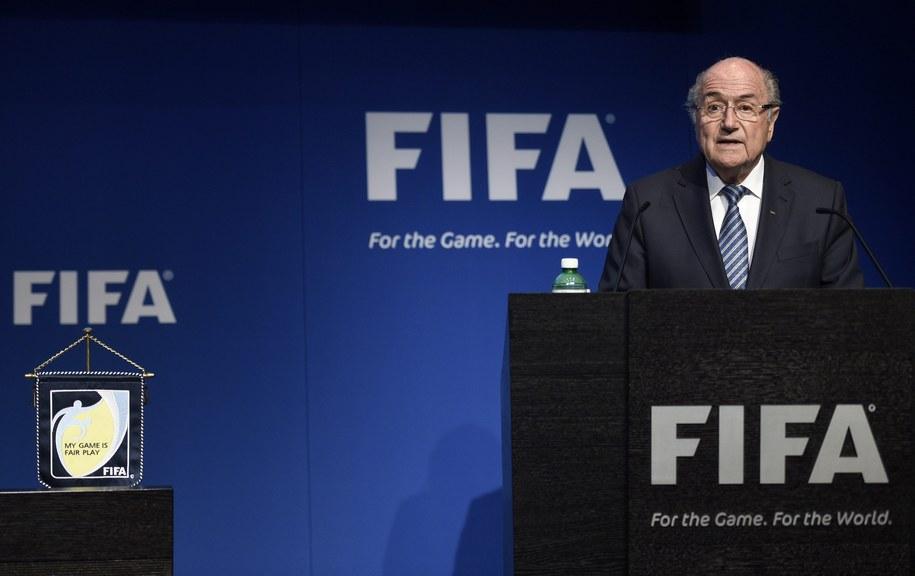 Joseph S. Blatter zapowiedział, że rezygnuje ze stanowiska /ENNIO LEANZA /PAP/EPA