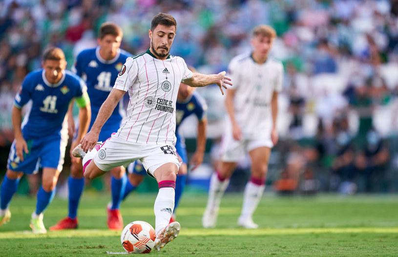 Josip Juranović wykorzystał rzut karny dla Celticu /Mateo Villalba/Quality Sport  /Getty Images
