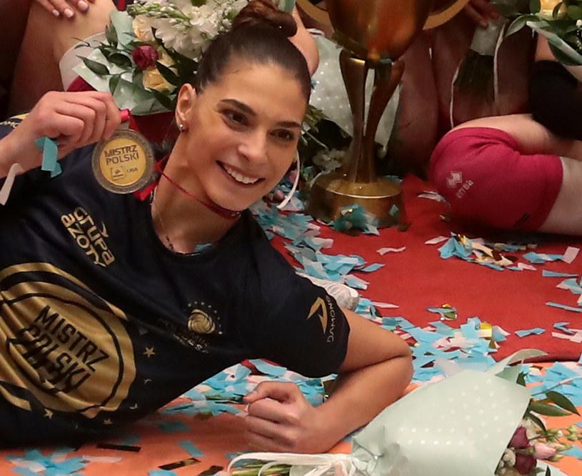 Jovana Brakocević-Canzian ze złotym medalem mistrzostw Polski /Fot. Andrzej Szkocki/Polska Press /East News