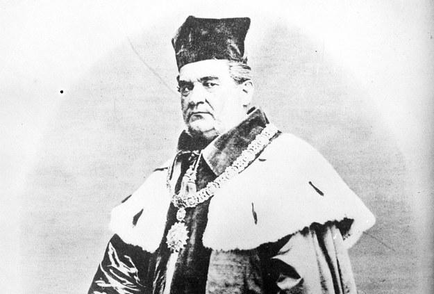Józef Dietl, polski lekarz, polityk, profesor i rektor Uniwersytetu Jagiellońskiego, prezydent Krakowa (1866-1874). Reprodukcja z książki /Z archiwum Narodowego Archiwum Cyfrowego