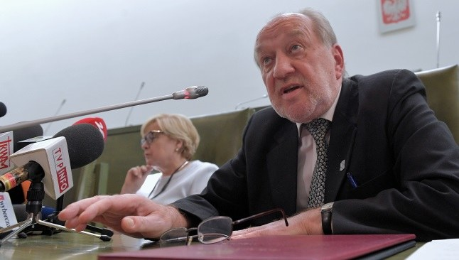 Józef Iwulski i Małgorzata Gersdorf na wspólnej konferencji prasowej / Marcin Obara  /PAP