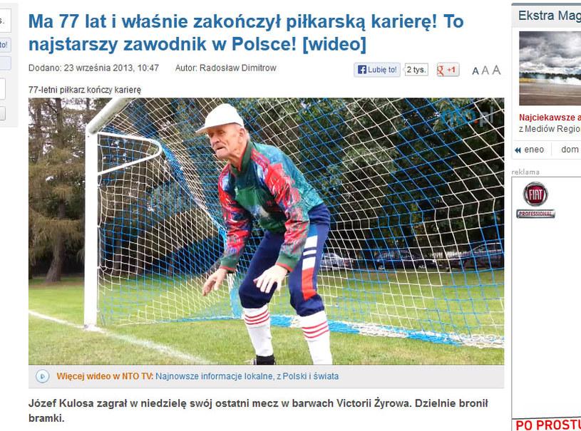 Józef Kulosa w akcji / fot. http://www.nto.pl /Internet