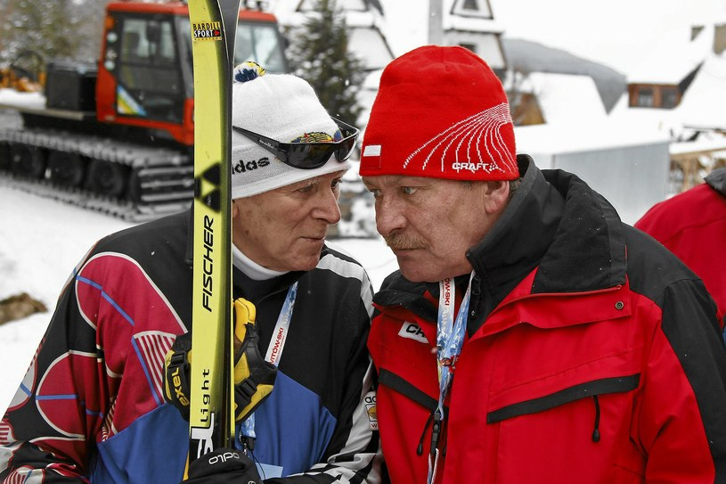 Józef Łuszczek (z prawej) i trener Edward Budny /Marek Podmokły /