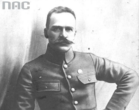 Józef Piłsudski, dowódca I Brygady Legionów /Z archiwum Narodowego Archiwum Cyfrowego