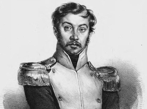 Józef Zaliwski. Portret autorstwa Charlesa-Louisa Bazina /Wikimedia