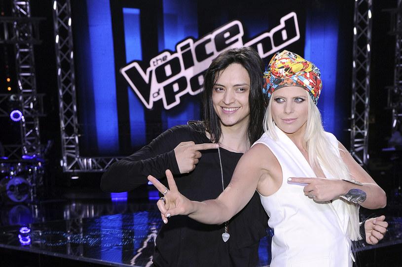 "Juan Carlos Cano i Maria Sadowska w programie ""The Voice of Poland"" - półfinał 2014 /AKPA"