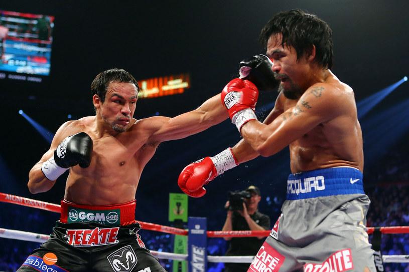 Juan Manuel Marquez (z lewej) kontra Manny Pacquiao /AFP