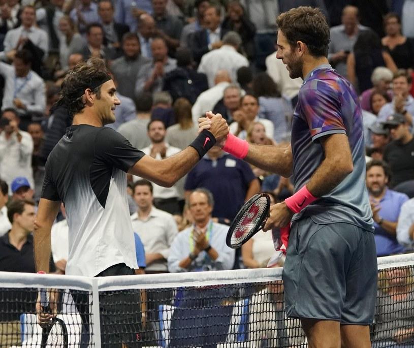 Juan Martin del Potro (z prawej) i Roger Federer /AFP