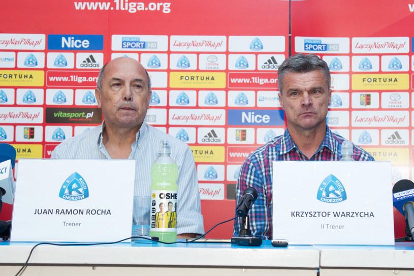Juan Ramon Rocha i Krzysztof Warzycha /Michał Chwieduk /