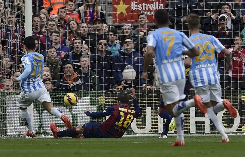 Juanmi pakuje piłkę do bramki /AFP