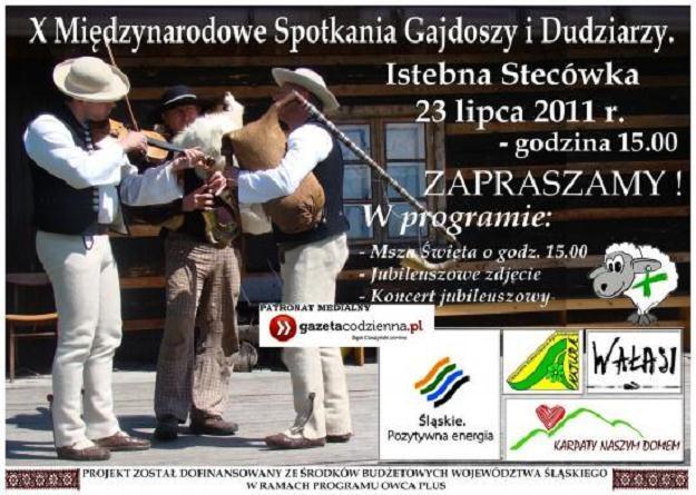 Jubileuszowe X Spotkanie Gajdoszy i Dudziarzy obędzie się w najbliższą sobotę /Gazeta Codzienna