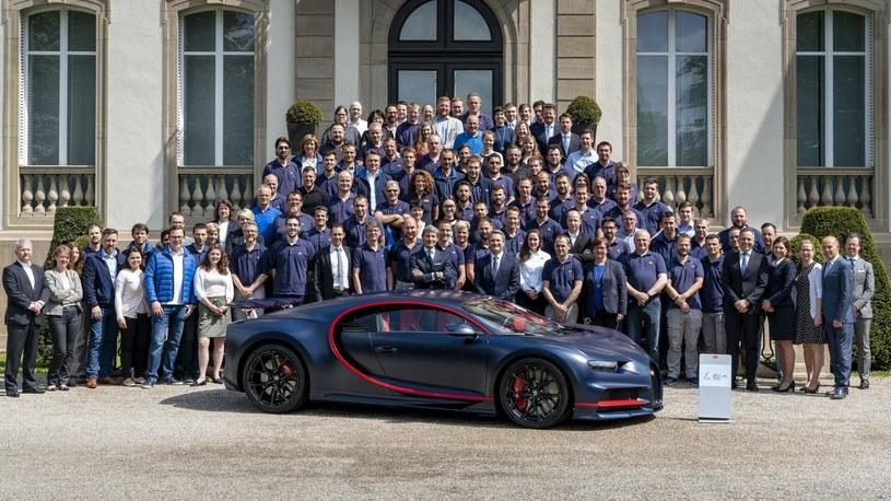 Jubileuszowy, setny egzemplarz Bugatti Chiron /