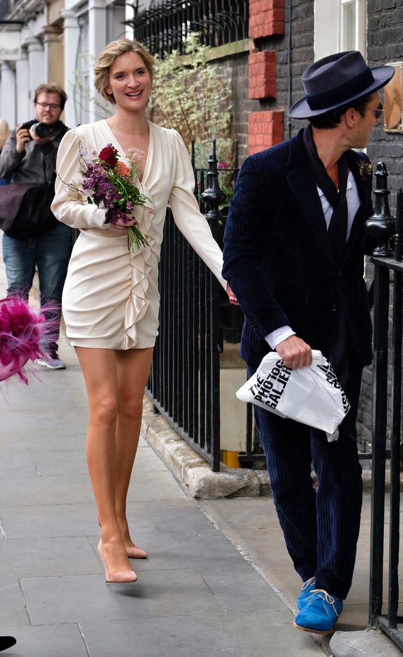 Jude Law i Phillipa Coan w dniu ślubu /Agencja FORUM