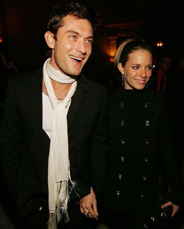 Jude Law i Sienna Miller, fot. Evan Agostini  /Getty Images/Flash Press Media