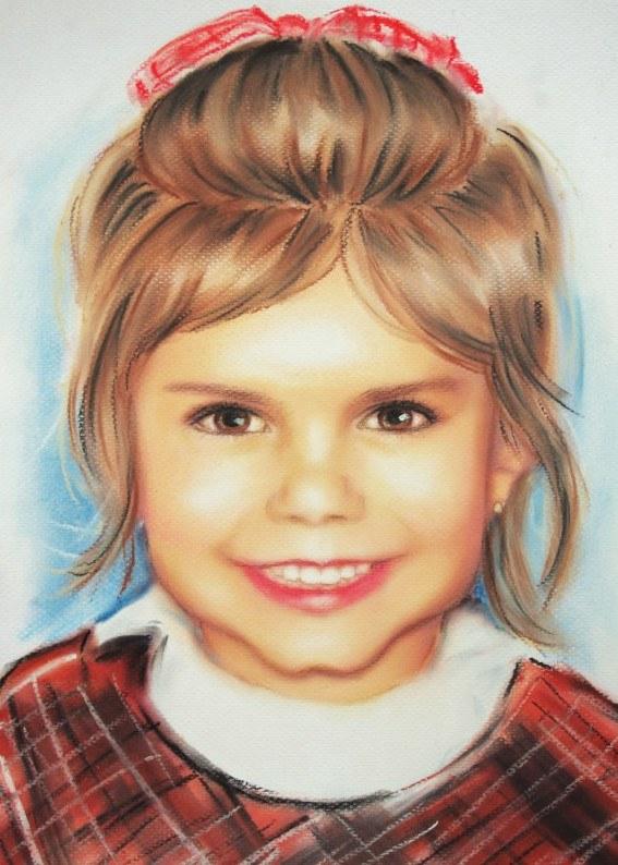 Judith Barsi, portret autorstwa Anny Rozwadowskiej /materiały prasowe