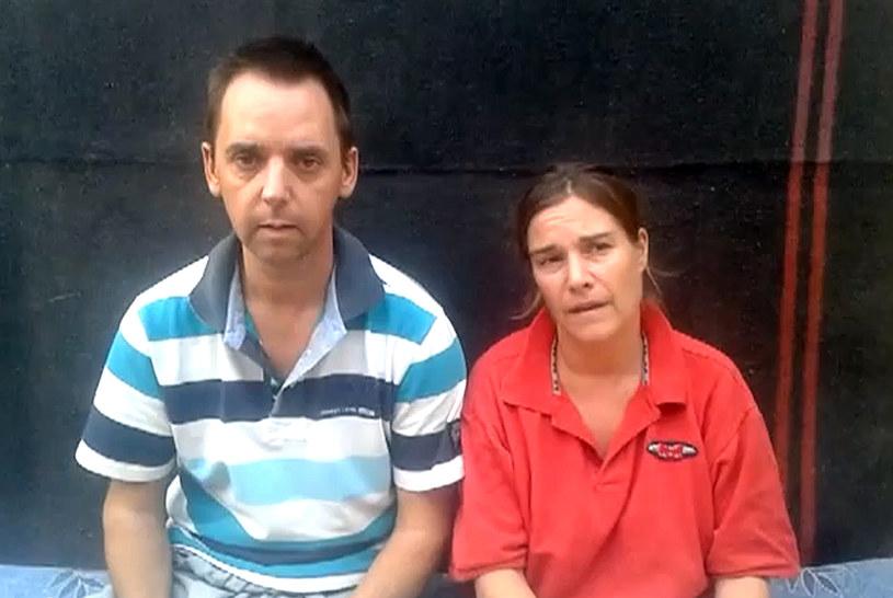 Judith Spiegel (z prawej) i Boudewijn Berendsen na obrazie z filmu wideo /YouTube /AFP