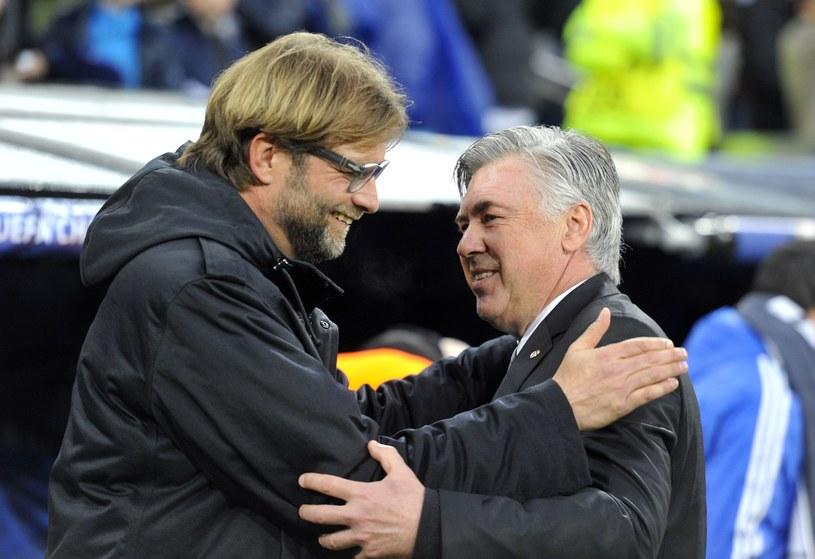 Juergen Klopp i Carlo Ancelotti podczas środowej rywalizacji w Madrycie /AFP