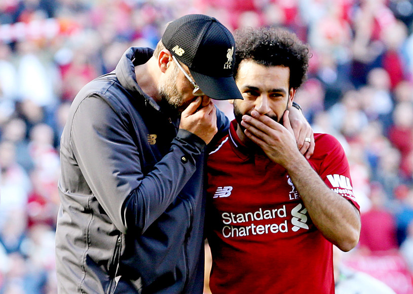 Juergen Klopp i Mohamed Salah - mistrzowie Anglii AD 2020? /Getty Images