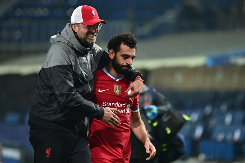 Juergen Klopp i Mohamed Salah /MIGUEL MEDINA /AFP