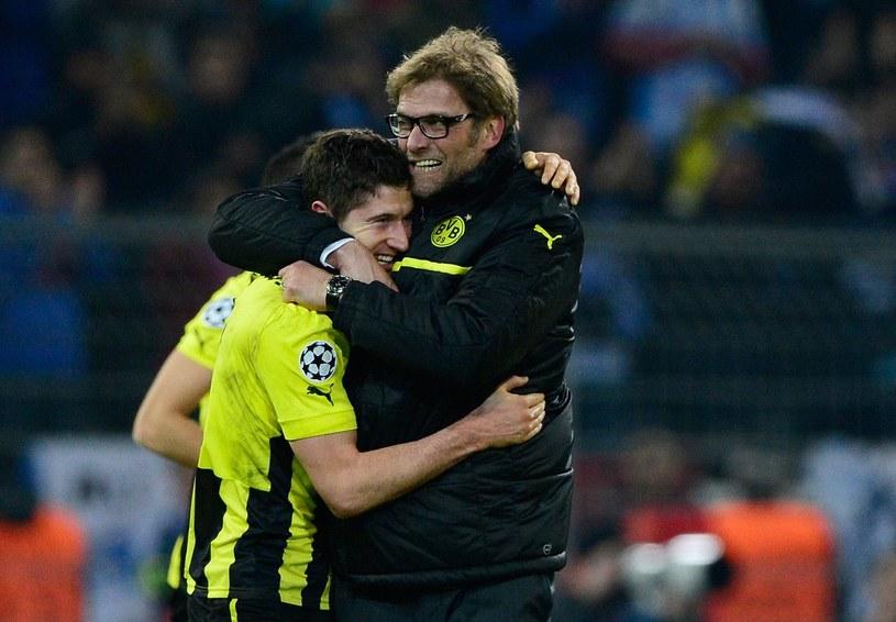 Juergen Klopp i Robert Lewandowski z czasów wspólnej pracy w Borussii Dortmund /AFP