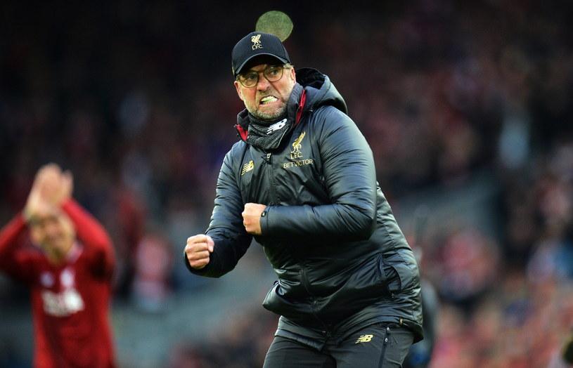Juergen Klopp mocno przeżywa mecze Liverpoolu /PAP/EPA/PETER POWELL /PAP/EPA