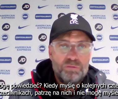 Juergen Klopp o najbliższych meczach i próbie pobicia rekordu. Wideo