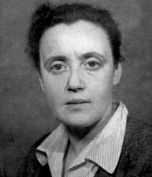 """Julia Brystygier/fotografia z wystawy """"Twarze bezpieki 1944-1990"""" przygotowanej przez IPN /"""