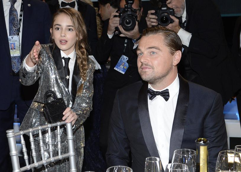 Julia Butters i Leonardo DiCaprio na rozdaniu nagród Screen ActorsGuild Awards (2020) /Kevork Djansezian /Getty Images