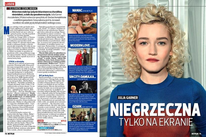 """Julia Garner w szóstym numerze magazynu """"Netfilm"""" /materiały prasowe"""