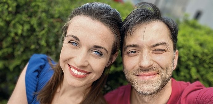 Julia Kamińska i Filip Bobek /Agnieszka Jurek/TVN /materiały prasowe