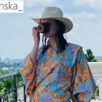 Julia Kamińska w szlafroku gotowa na majówkę