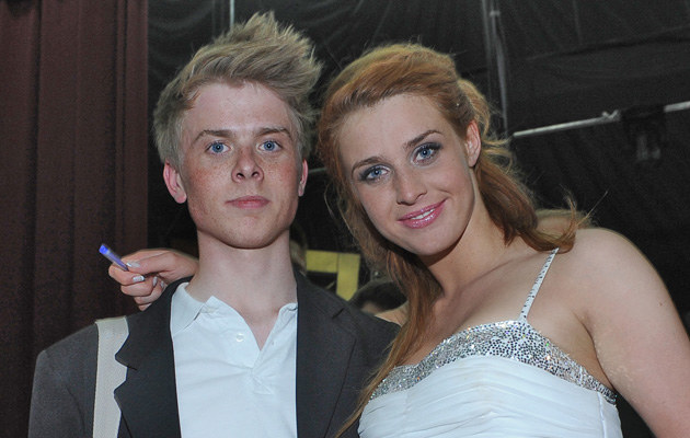 Julia Kamińska z bratem Christianem, fot.Andras Szilagyi  /MWMedia