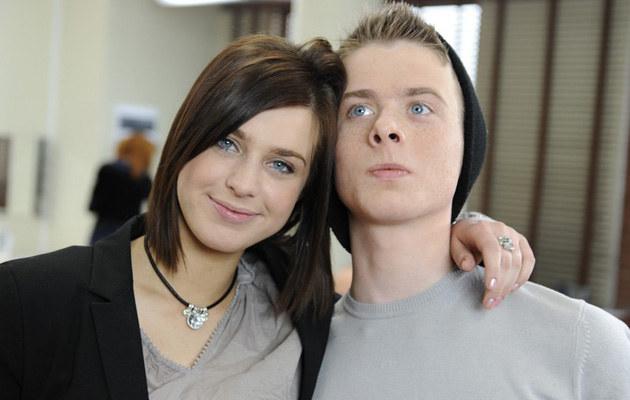 Julia Kamińska z bratem Christianem, fot.Bartosz Krupa  /East News