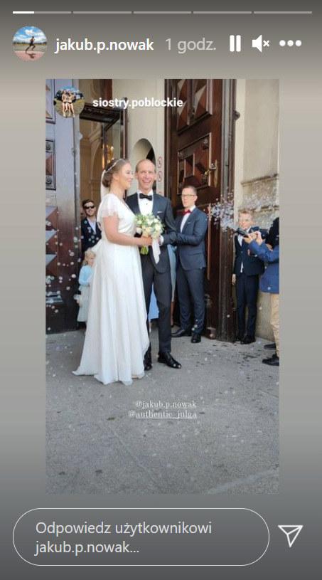 Julia Królikowska w dniu ślubu /Instagram /Instagram