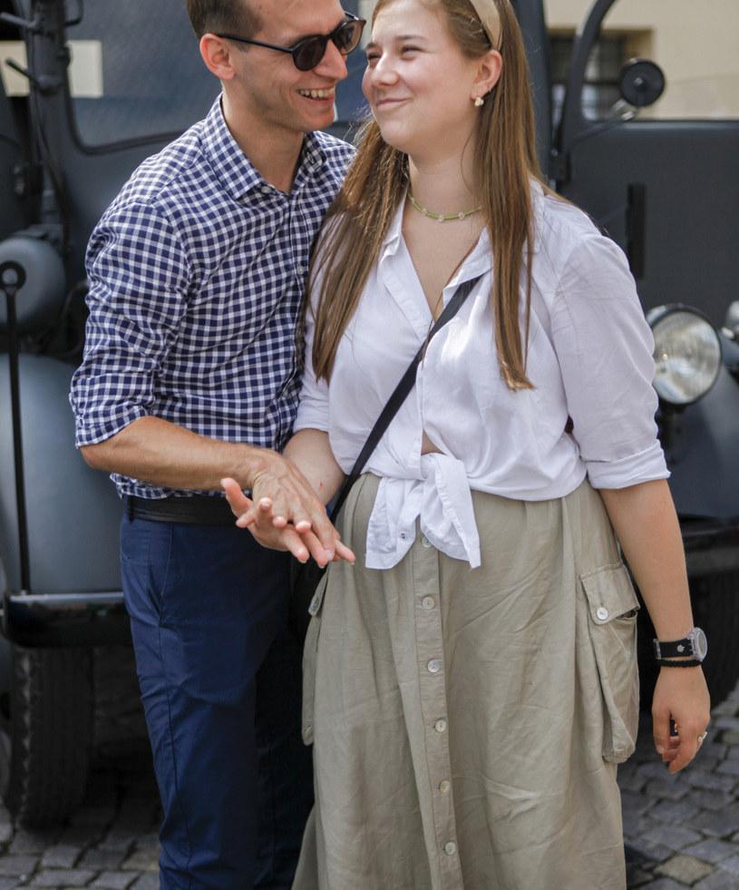 Julia Królikowska z mężem /Telus /AKPA