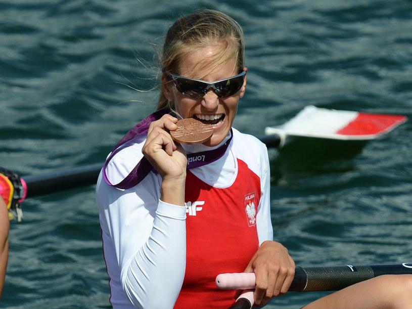 Julia Michalska z medalem igrzysk w Londynie /AFP
