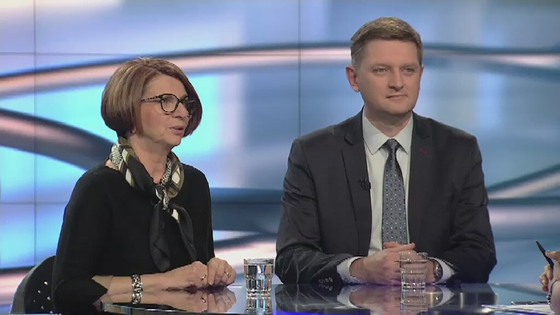 Julia Pitera i Andrzej Rozenek /TVN24/x-news