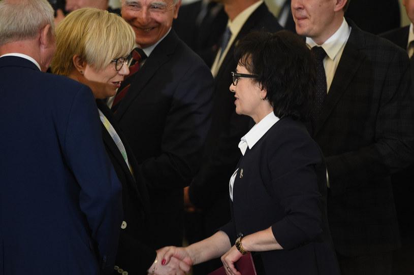 Julia Przyłębska i Elżbieta Witek /Zbyszek Kaczmarek/REPORTER /Reporter